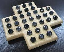 Game With Wooden Board And Marbles Solitaire Game With Wooden Marbles Handmade Classic Family Board 93