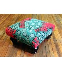 rug covered ottoman rug covered ottoman colorful blooming cactus ottoman footstool hand hooked rug oriental rug rug covered ottoman