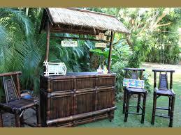 outdoor tiki bar sets brown bamboo ideas