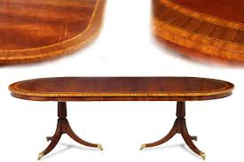 Inlaid Dining Table Formal Oval Inlaid Mahogany Dining Table With Leaves