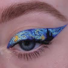 starry night eyeliner on insram