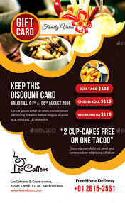 large restaurant gift card template