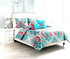 red and turquoise bedding c sets image of grey twin tur turquoise c bedding