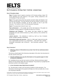 ielts tutorial and tips on academic writing ielts academic ielts academic writing task 1 activity answer keys page 1