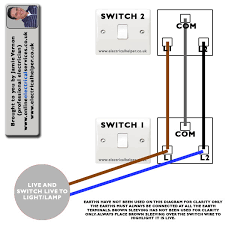 two way lighting circuit wiring images rocker switch wiring staircase wiring two switches lights screwfix community