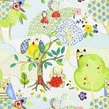 woodland friends fabric in summer
