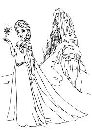 frozen with ice castle on the back coloring pages disney free frozen with ice castle on the back coloring pages disney free