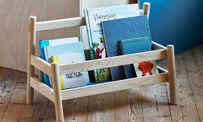 ikea kids wooden book shelf