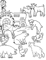 Small Picture Cartoon Farm Animal Coloring Page Clip and Color part two
