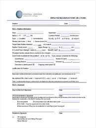 employment requisition form template 8 employee requisition forms free sample example format download