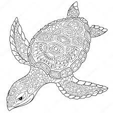 Zentangle стилизованный черепаха векторное изображение Sybirko