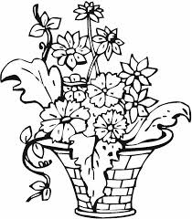 Small Picture Coloring Pages Of Flower Baskets Coloring Pages
