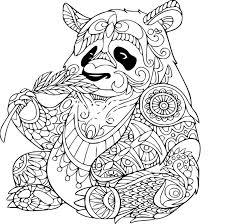 Coloriage Panda Anti Stress Imprimer Sur Coloriages Info