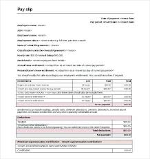 Salary Slip Word Format Payroll Slip Template Excel Thaimail Co