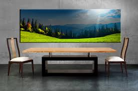 shining design panoramic wall art 1 piece blue sky scenery sunrise large canvas dining room artwork