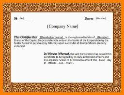 7 Free Stock Certificate Templates Microsoft Word Marlows