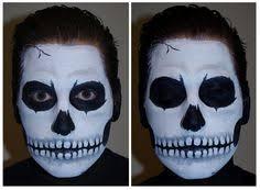 skull face paint makeup tutorial skeleton