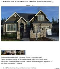 Vancouver House For Sale In Bitcoin A Sign Of Suspicious Activity