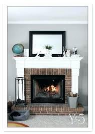 faux brick fireplace surround best red fireplaces ideas on paint mantels mantel decor