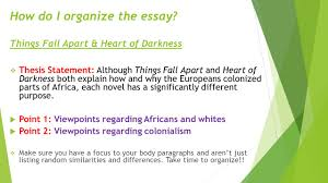 day english ppt video online  how do i organize the essay things fall apart heart of darkness
