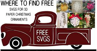 Freesvg.org offers free vector images in svg format with creative commons 0 license (public domain). Making 3d Paper Christmas Ornaments With Cricut Free Svgs