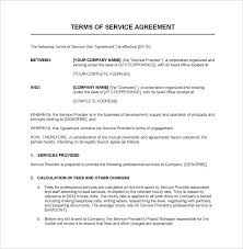 Service Agreements Templates Contract Free Word Documents Download ...