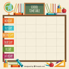 Timetable Chart Ideas 20 Classroom Elements With School Timetable Creative Ideas