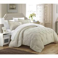 3-Piece Nikola Pinch Pleat Pintuck Duvet Cover - Walmart.com &  Adamdwight.com