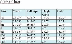 4xl Pants Size Chart The Plain Pants