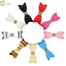 3 leather bows without hair clips girl s solid leather hair bow for kids diy headband headwear hair accessories vintage wedding hair accessories