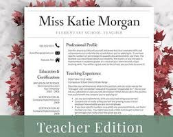 Free Teacher Resume Templates Outathyme Com