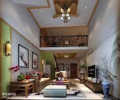 ... New Chinese Style High Ceiling Living Room Tv Background Wall Chinese  Style Room ...