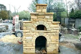 backyard fireplace outdoor with pizza oven plans gas grill paver stone full size