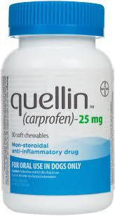 Quellin Carprofen For Dogs Compares To Rimadyl Bayer