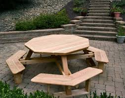 beautiful western red cedar walk in picnic table shown unstained rot decay resistant