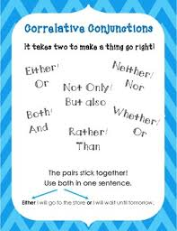 Conjunction Chart Conjunctions Anchor Charts Notes Pages