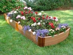 Small Picture Raised Bed Flower Garden Design Landscaping Pinterest Flower
