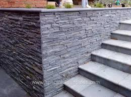exterior tile wall installation. exterior black slate panel stone wall cladding tile installation i