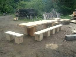 log picnic table plans