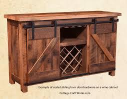 scaled sliding barn cabinet door hardware