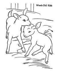 Small Picture Farm animal coloring page Goat Baby goats Kids Farm crafts