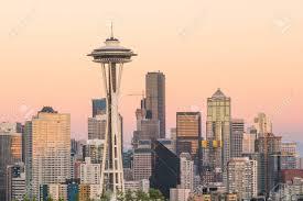 Seattle Cityscape View Of Downtown Seattle Skyline In Seattle Washington Usa