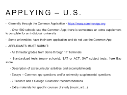 university education in the united states u s universities application process 12 applying u s generally through the common