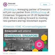 Emc Quote New Emercoin EMC Consensus Singapore Coindarorg