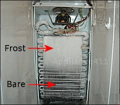 appliance411 faq how does a frost refrigerator s defrost partially frosted evaporator coil