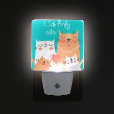 Cat 2 Led Lighting Wihve Cute Family Cats 2 Pack 0 5w Plug In Led Night Light