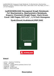 Hexagon Graph Paper Pdf Pdf Download Hexagonal Graph Notebook For Biochemistry