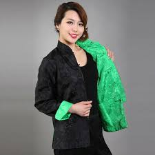 <b>Chinese Traditional</b> Double Face <b>Jacket Women</b> Silk Satin <b>Coat</b> ...