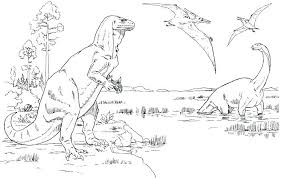 Elegant Realistic Dinosaur Coloring Pages Or Realistic Dinosaur