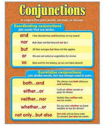 Conjunction Chart The School Mart Learning Chart Conjunctions Multi Price